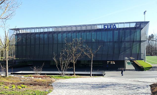 Fachada da sede da Fifa, entidade que organiza o futebol mundial, em Zurique (SUI)