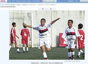 Rodrigo e Thiago, nas categorias de base do Flamengo