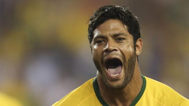 Hulk comemora seu gol no amistoso contra os EUA (Leo Correa/Mowa Press)