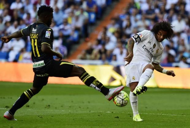 Marcelo foi o capitão do Real Madrid na partida contra o Granada )Javier Soriano/AFP)