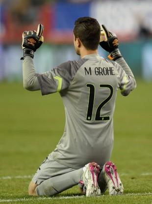 Marcelo Grohe celebra gol do Brasil na vitória por 4 a 1 sobre os EUA, em amistoso (Don Emmert - 8.set.2015/AFP)