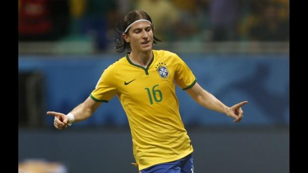 Filipe Luís marcou o 3º gol do Brasil contra o Peru (André Mourão/MoWA Press)