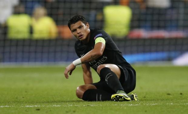 O PSG, do capitão Thiago Silva, ficou 28 partida sem perder até cair em Madri (Sergio Perez - 3.nov.2015/Reuters)
