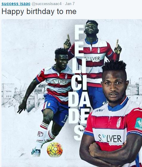 """Success deseja """"feliz aniversário"""" a si mesmo (Reprodução/Twitter Isaac Success)"""