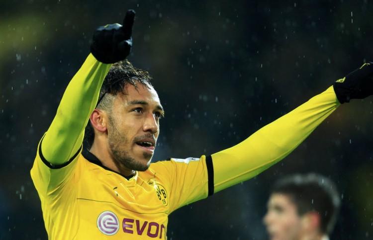 Aubameyang, do Borussia Dortmund (Ina Fassbender - 30.jan.2016/Reuters)