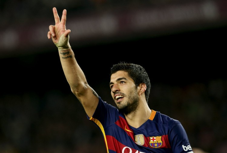 Suárez, do Barcelona (Albert Gea - 3.fev.2016/Reuters)