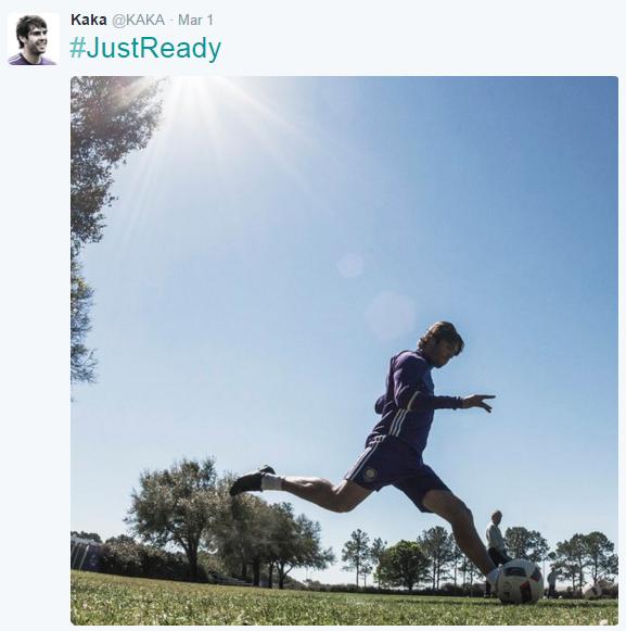 Kaká diz estar pronto (ready) para a temporada de 2016 da MLS (Reprodução/Twitter de Kaká)