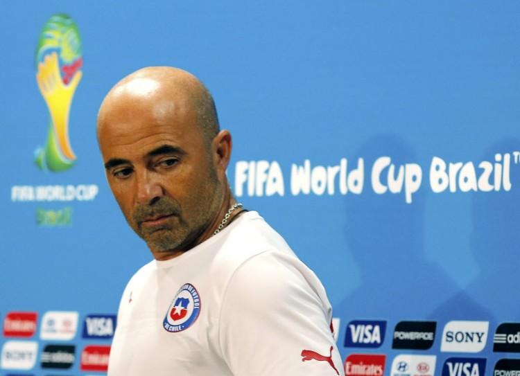 Jorgem Sampaoli, então treinador do Chile, durante a Copa do Mundo de 2014, no Brasil (Eric Gaillard - 27.jun.2014/Reuters)