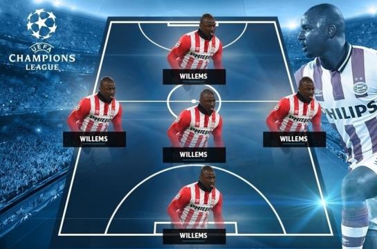Cinco vezes Willems na seleção do próprio Willems (Reprodução/Site da Uefa)