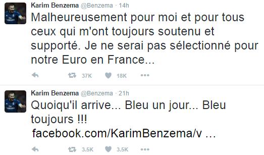 (Reprodução/Twitter Karim Benzema)