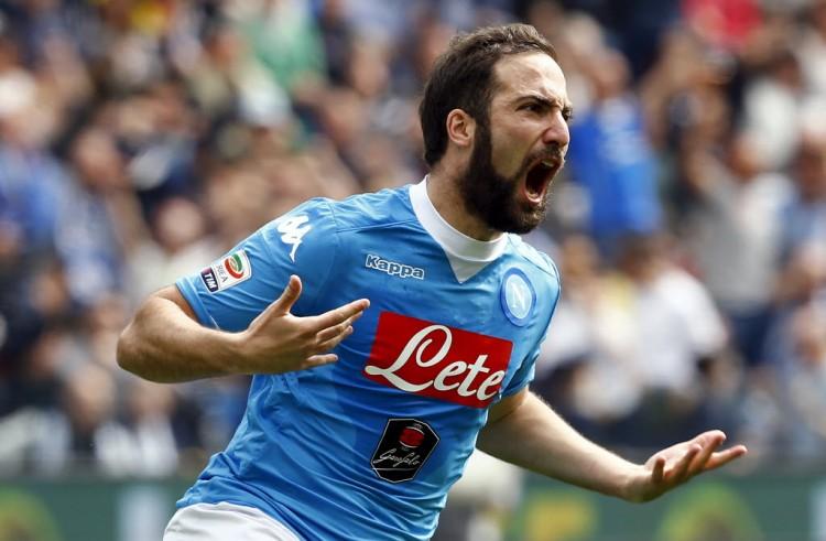 Udinese v Napoli - Italian Serie A - Friuli stadium, Udine, Italy - 3/4/16 Napoli's Gonzalo Higuain celebrates after scoring against Udinese. REUTERS/Stefano Rellandini