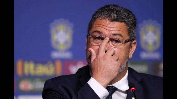 O técnico da seleção brasileira olímpica, Rogério Micale, durante o anúncio dos 18 jogadores que devem atuar na Rio-2016 (Lucas Figueiredo -29.jun.2016/MoWA Press)
