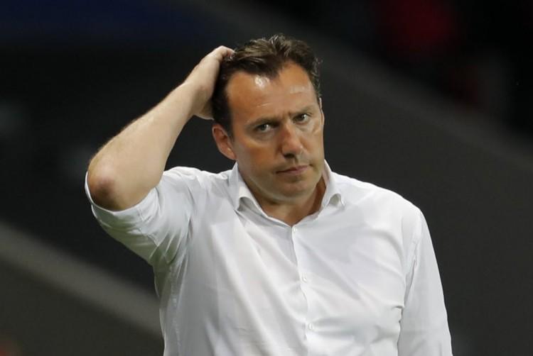 Marc Wilmots na derrota para o País de Gales da Eurocopa da França, sua última partida no comando da Bélgica (Pascal Rossignol - 1ºjul.2016/Reuters)