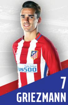 Griezmann foi eleito o melhor jogador na Eurocopa-2016 (Reprodução/Site do Atlético de Madri)
