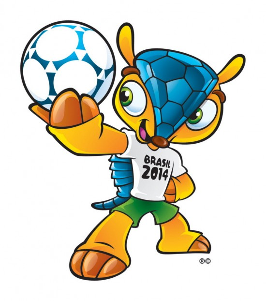 "tatu-bola ""Fuleco"", mascote da Copa do Mundo, 2014. *** This image released byFIFA Sunday Sept. 16, 2012 shows the mascot of the 2014 World Cup. The mascot is a yet to-be-named Brazilian endangered armadillo. FIFA said Brazilians will have until mid-November to choose the mascot's name from three choices - Amijubi, Fuleco and Zuzeco. The mascot's announcement was made Sunday on a television show with the participation of former Brazil star Ronaldo.(AP Photo/FIFA)"