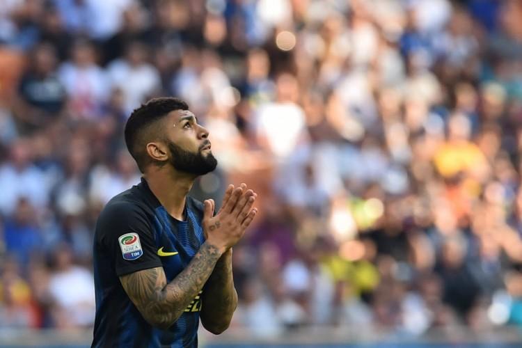 Gabigol na partida da Inter contra o Bologna, a única da qual participou neste Campeonato Italiano (Giuseppe Cacace - 25.set.2016/AFP)