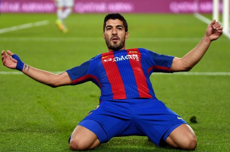 Suárez celebra gol contra o Espanyol, pelo Campeonato Espanhol (Rex Shutterstock - 18.dez.2016//Zumapress/Xinhua)