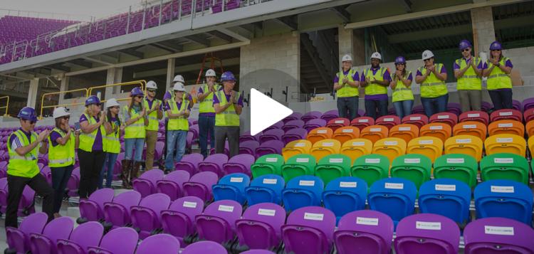 Vídeo do Orlando City mostra o setor 12 do novo estádio do clube norte-americano (Reprodução/Site do Orlando City Soccer Club)